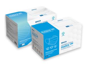 Khẩu trang MAZA PLUS 4 lớp (hộp 50 cái) kháng khuẩn, chống bụi thumbnail