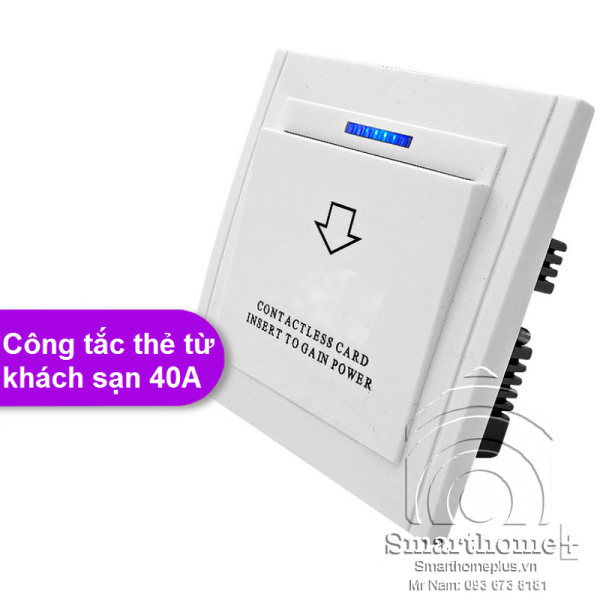 Công Tắc Thẻ Từ Khách Sạn Hình Vuông 40A SHP-KS2