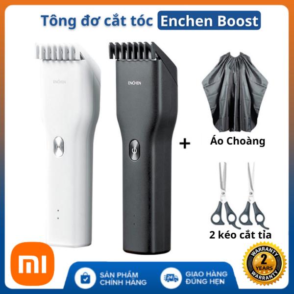 (Áo Choàng+Kéo Tỉa) Tông Đơ Cắt Tóc Xiaomi ENCHEN Boost công suất 5w - máy cắt tóc gia đình người lớn, trẻ em - Bảo hàng chính hãng 24 tháng