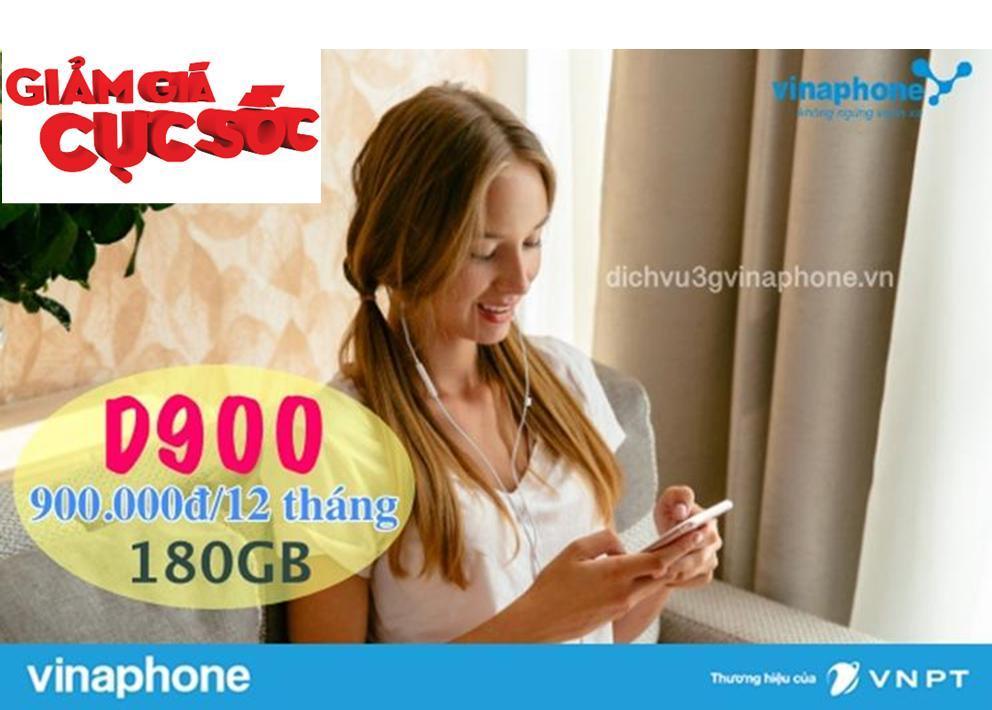Giá [BÃO SALE] Sim 4G VINA D900 trọn gói 1 năm không nạp tiền 9GB tháng, có thể nghe gọi