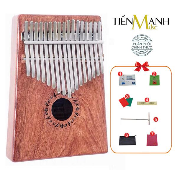 [Khắc Phím] Đàn Kalimba Gecko 17 Phím K17R - Tone C, Gỗ Rosewood Đỏ - Mbira Thumb Finger Piano 17 Keys - Hãng phân phối chính thức
