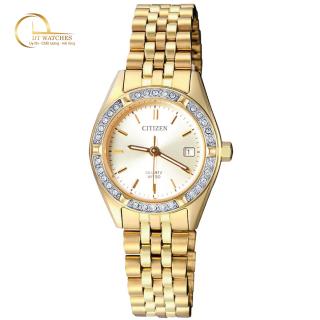 Đồng hồ Citizen Nữ máy quartz, kính cứng, dây thép không gỉ EU6062-50P thumbnail
