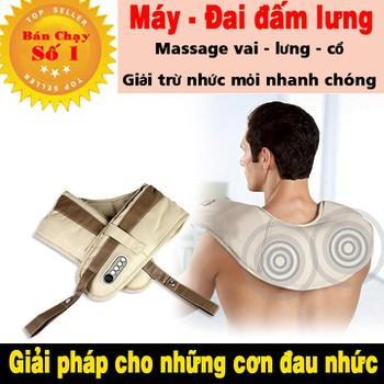 BẢO HÀNH 1 ĐỔI 1 - Đai massage lưng và vai trị liệu nhức mỏi chữa đau lưng và nhức mỏi vai