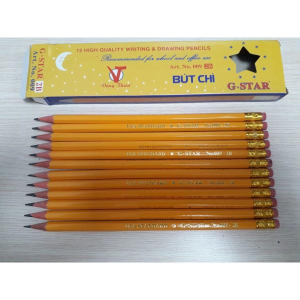 Mua 1 hộp 12 cây bút chì gỗ thân vàng GSTAR cực rẻ,bền đẹp