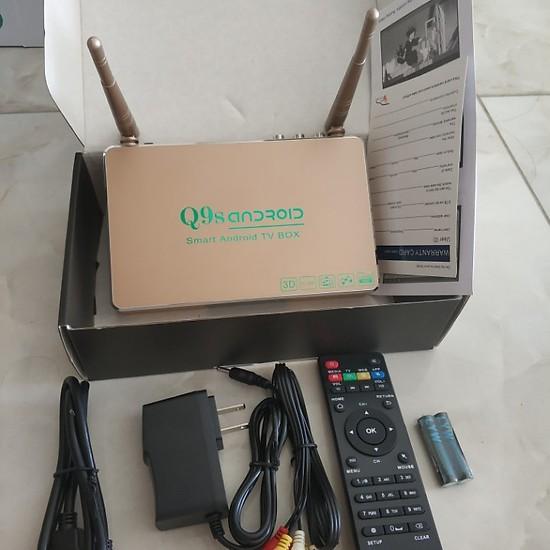 Voucher Ưu Đãi Đầu Android Tivi Box Q9s - 02 Anten Chuẩn 1GB RAM