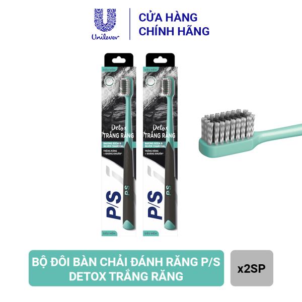 Bộ đôi bàn chải đánh răng P/S Detox Trắng răng