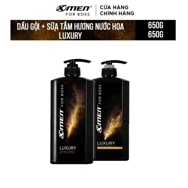 Combo Dầu gội nước hoa X-Men for Boss Luxury 650g + Sữa tắm nước hoa X-Men for Boss Luxury 650g nhập khẩu