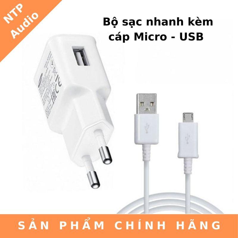 Bộ sạc nhanh kèm cáp Micro - USB Samsung EP-TA20EW - Hàng Chính Hãng