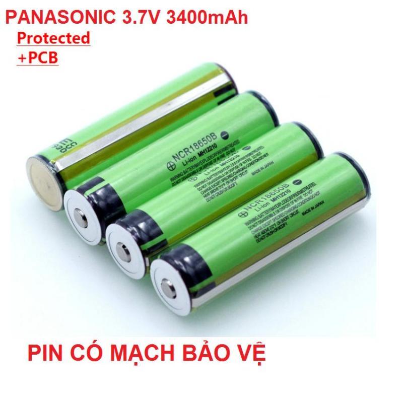 Pin 18650 panasonic có mạch bảo vệ dung lượng 3400mah 3.7v cho đèn pin, máy khoan, box sạc dự phòng pin laptop (1 viên)