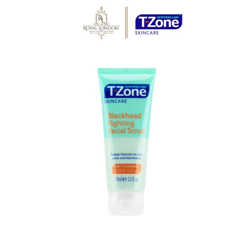Kem Tẩy Da Chết T-ZONE Loại Bỏ Mụn Đầu Đen Tinh Chất Tràm Trà Blackhead Fighting Facial Scrub 75ml
