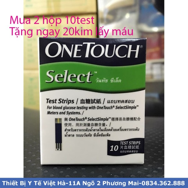 Que thử đường huyết onetouch seclect hộp 25 que