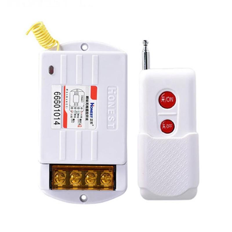 Công Tắc Điều Khiển Từ Xa Honest HT-6220ZR-1 30A/220V khoảng cách 100-1Km (NÚT ĐỎ) bộ công tắc điều khiển từ xa bật tắt máy bơm nước động cơ