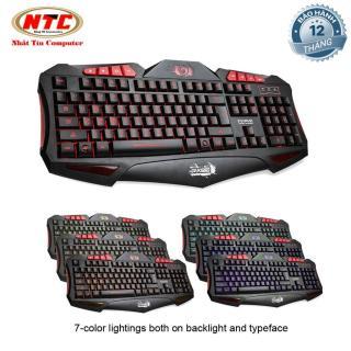 [HCM]Bàn phím chuyên game Marvo K650 tích hợp led 7 màu khác nhau có thể tùy chỉnh (Đen) - Nhất Tín Computer thumbnail