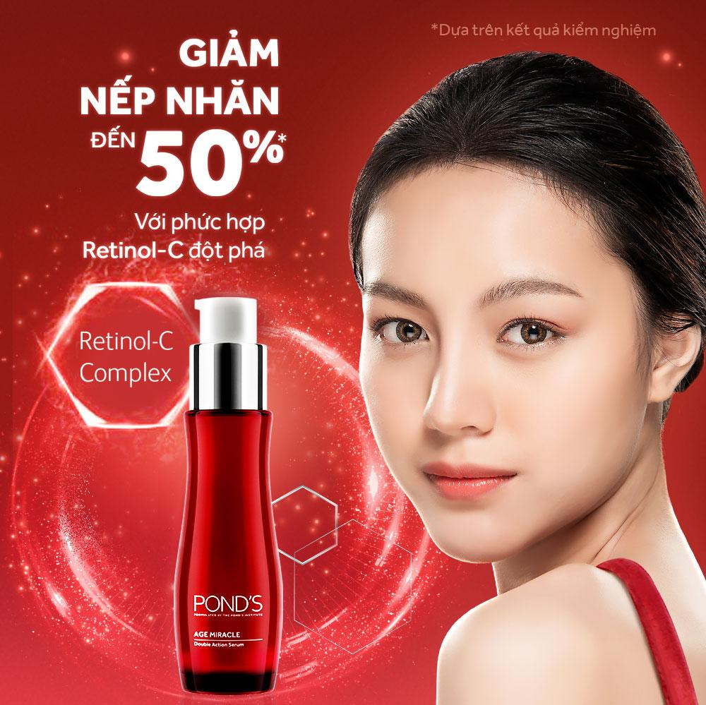Serum Ngăn Ngừa Lão Hóa PondS Age Miracle Double Action 30ml cao cấp
