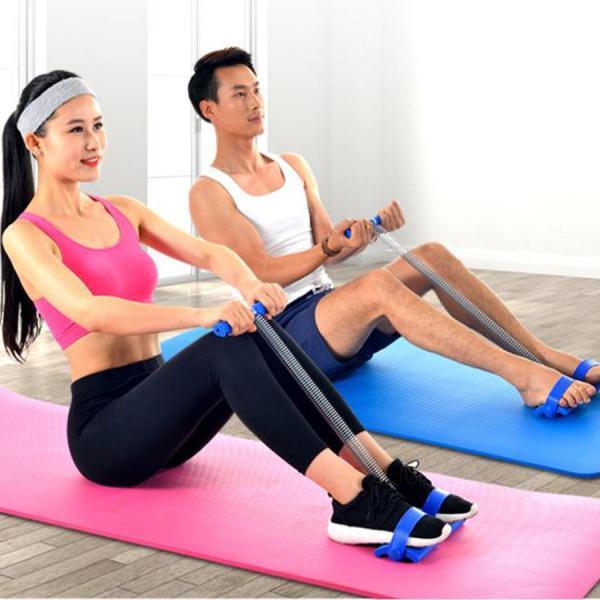 Dây kéo tập gập bụng đàn hồi đa năng cho nam nữ dụng cụ tập gym thể dục tại nhà Tummy Trimmer Đồ tập bụng ngực tay eo vai tiện dụng