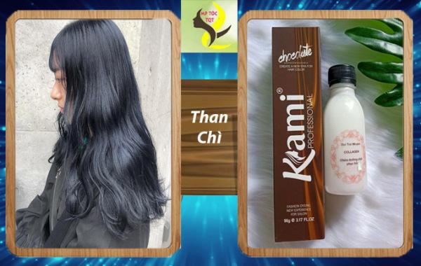 thuốc nhuộm tóc màu Than chì (kèm oxi và găng tay)