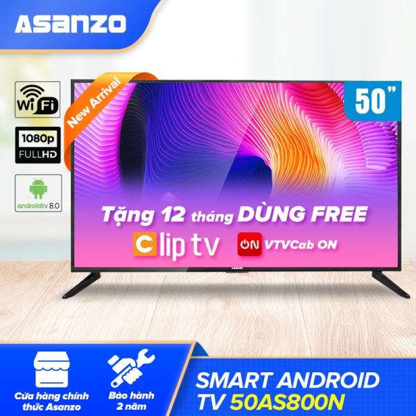 Bảng giá Smart Tivi Full HD Asanzo 50AS800N 50 inch [New 2021] Android 8, Khắc Phục Lỗi Youtube [Miễn Phí 12 Tháng Clip TV] - Hàng Chính Hãng Bảo Hành 2 Năm
