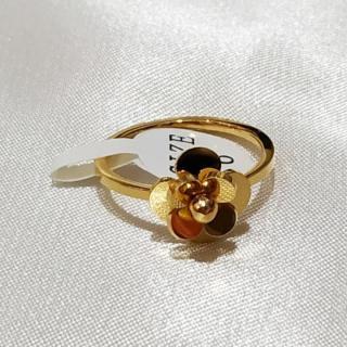 Nhẫn Hoa Trà Titan Không Đen TT 1866 thumbnail