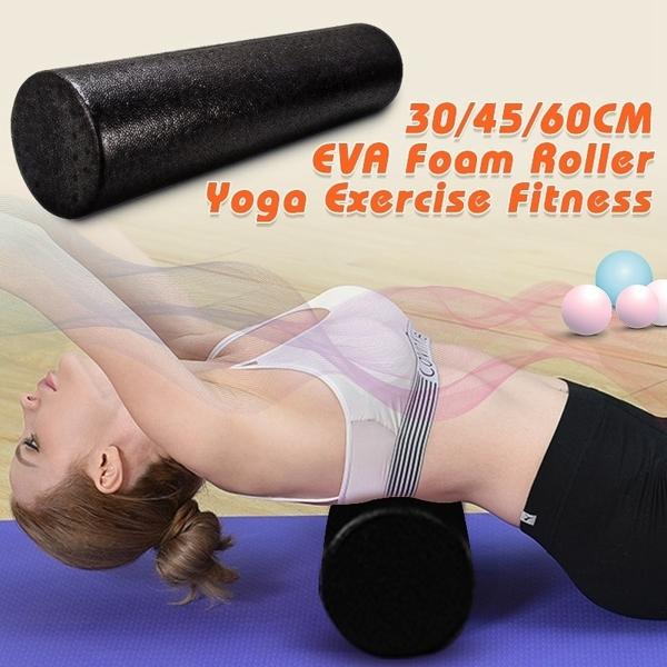 Khối Tập Yoga Tập Thể Hình Mát Xa Cơ Thể Tập Luyện Crossfit Màu Đen Thiết Bị Tập Thể Dục Pilates Bọt Con Lăn