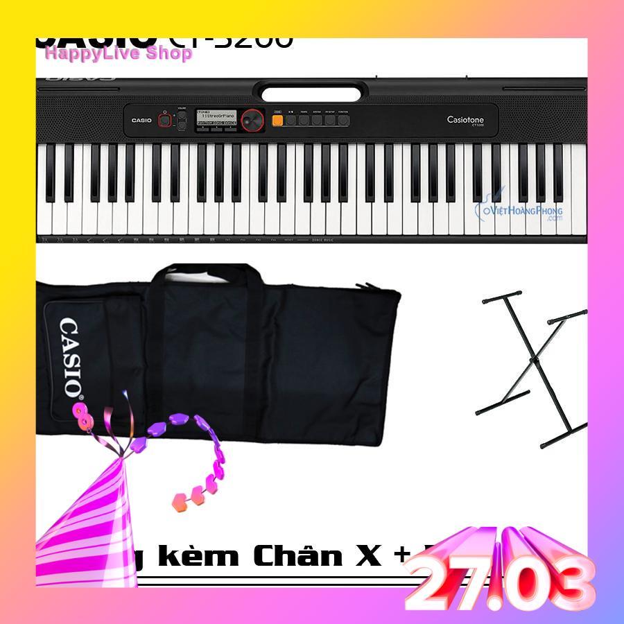 Đàn Organ Casio Casiotone CT-S200 (Đủ 3 màu) Kèm Adapter + Giá nhạc + Chân X + Bao đàn - HappyLive Shop