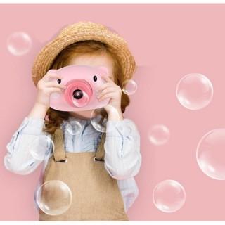 [HOT TREND] Máy ảnh thổi bong bóng hình heo dễ thương an toàn cho bé, Đồ chơi máy ảnh thổi bong bóng tự động có nhạc hình chú heo hồng đáng yêu cho bé thumbnail
