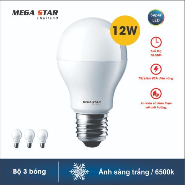 Combo 3 Bóng đèn Megastar LEDBulb 12W E27 6500k (Ánh sáng trắng ) hoặc 3000k ( Ánh sáng vàng )