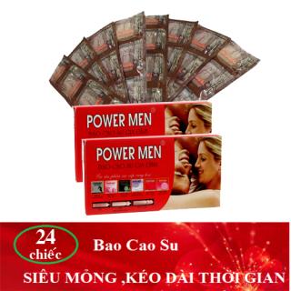 [HCM]( Combo 2 hộp 24 chiếc ) Bao cao su Powermen Gia đình - chiếc Bao cao su siêu mỏng trơn Powermen gia đình - Bcs gia đình giá rẻ - Bao cao su dành cho gia đình thumbnail