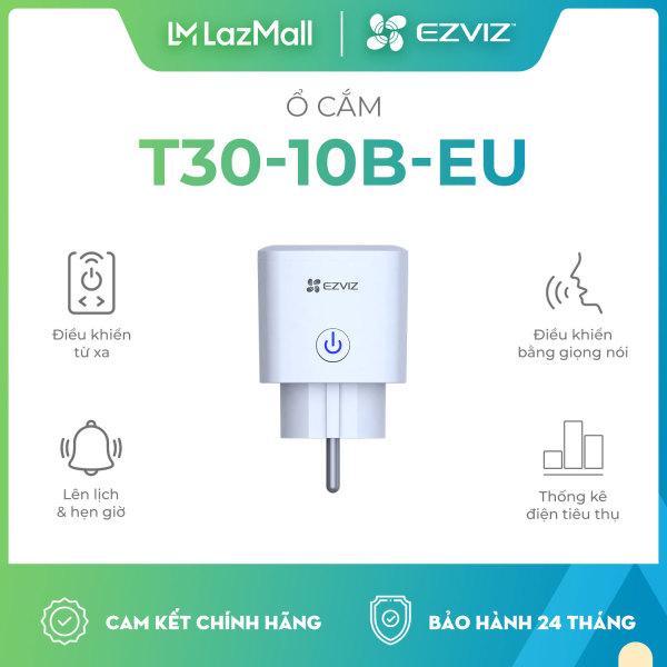 Bảng giá Ổ cắm wifi Ezviz T30-10B-EU và T30-10A-EU, Ổ cắm Ezviz T30 kết nối wifi, Đo điện năng tiêu thụ, từ xa qua app điện thoại, hẹn giờ tắt mở, điều khiển bằng giọng nói - Hàng Chính Hãng