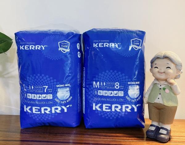 Combo 2 gói tã quần dành cho người lớn KERRY loại mỏng nhẹ size M8, L7