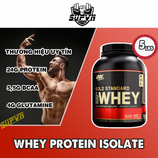 100% Whey Protein On Gold Standard Optimum nutrition 5lbs - Whey On Gold Standard 5.64 Lbs - Sữa tăng cơ bổ sung Protein nhập khẩu