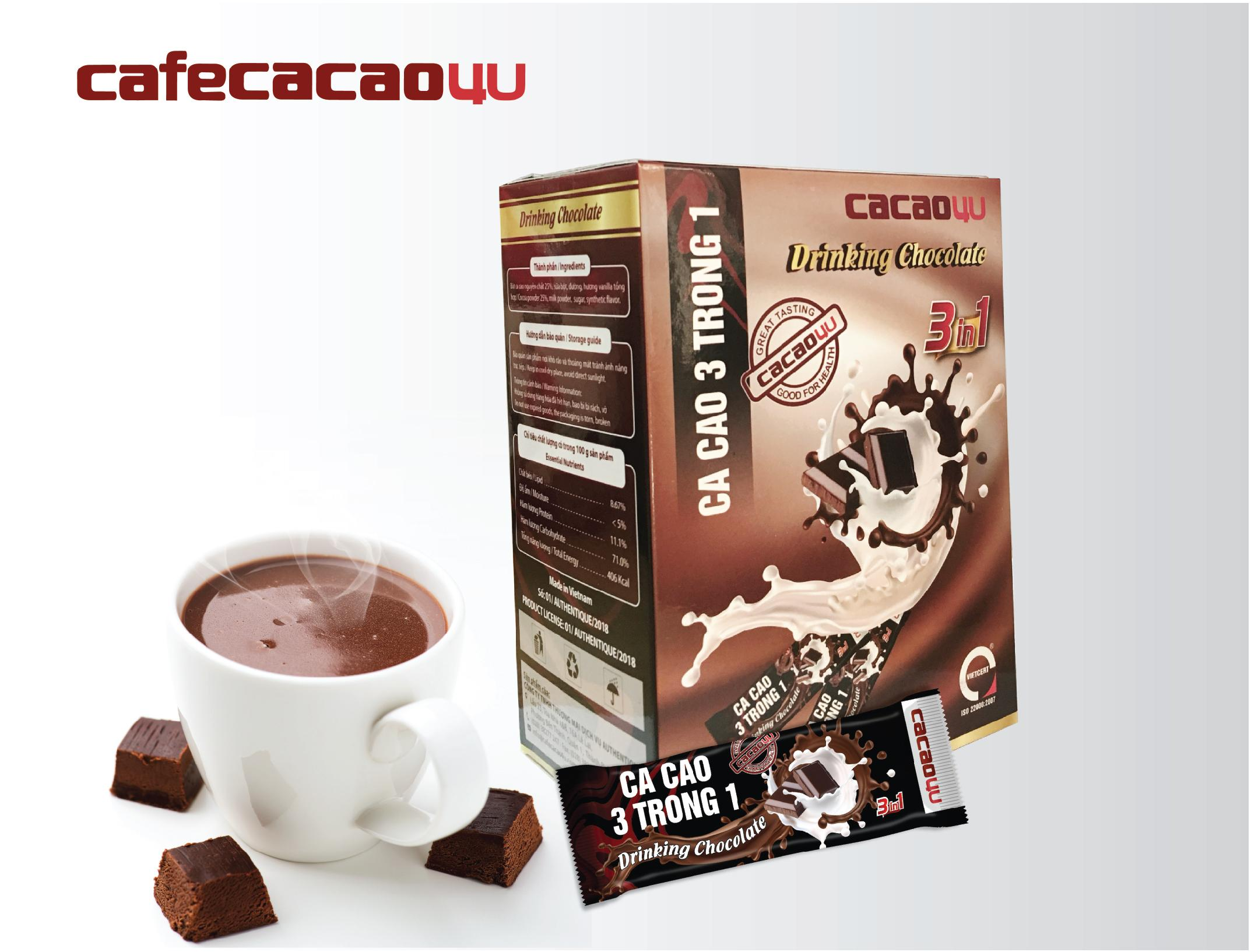 CA CAO SỮA 3IN1 - DRINKING CHOCOLATE
