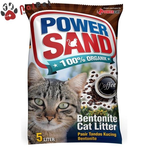 Cát Vệ Sinh Cát Đất Sét Power Sand Bentonite Cat Litter Túi 8L