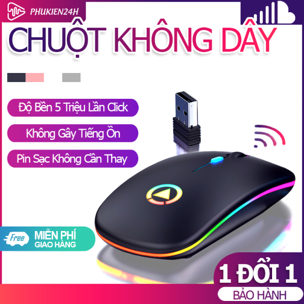 Bảng giá [Bảo Hành 06 Tháng] Chuột Không Dây Bluetooth+wireless M1 có led – Cảm biến nhạy -Lia mượt – Dùng cho Laptop PC TV Phong Vũ