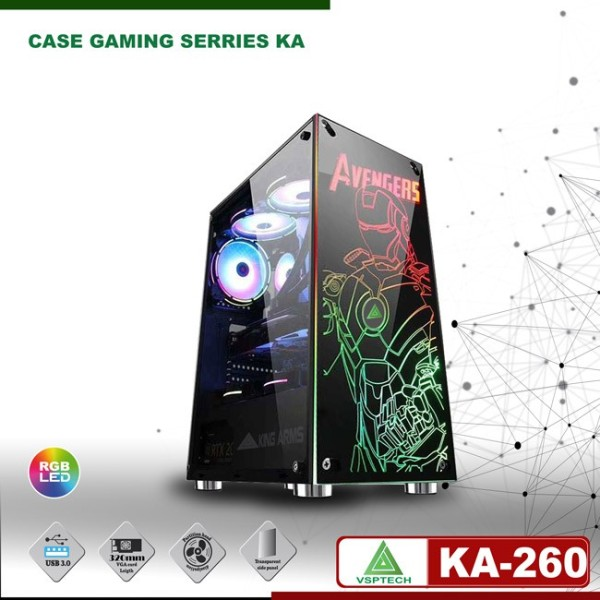Bảng giá Thùng máy Case VSPTECH Gaming KA-260 (No Fan) BH 12 tháng Phong Vũ
