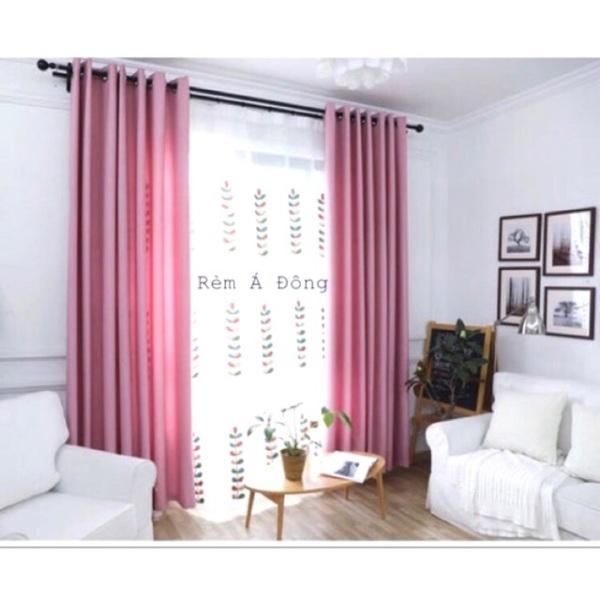 Rèm vải thô màu hồng phấn cực xinh nhiều kích thước , sản phẩm tốt, chất lượng cao, cam kết sản phẩm nhận được như hình