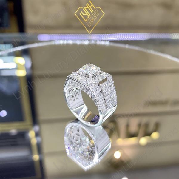 (Mới) Nhẫn mạ bạc nam , nhẫn nữ đẹp mạ bạc xi 4 lớp cao cấp phong cách hàn quốc đính đá pha lê sáng lấp lánh lung linh thiết kế sang trọng tinh tế thời trang nữ tính Trang Sức KADO shop N1705139 - dùng đi tiệc cực kì sang chảnh