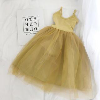 Gấu Leader Mùa Hè Thời Trang Bé Gái Đầm Chắp Vá Phong Cách Lacework, Đầm Nữ Dễ Thương Có Dây Đeo Phong Cách Hàn Quốc Công Chúa Vesitidos 3-7Y
