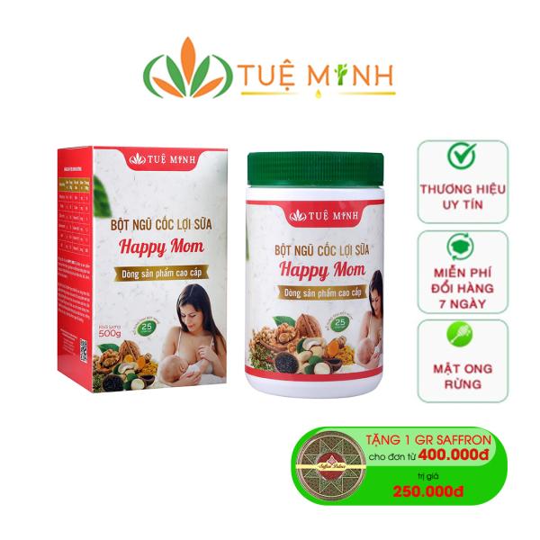 Ngũ cốc lợi sữa Tuệ Minh 25 loại hạt hộp 500g - 100% thành phần tự nhiên, giúp sữa về nhanh, giảm cân cho mẹ, tốt sữa cho con - Lợi sữa cho mẹ bầu sau sinh, vào con không vào mẹ