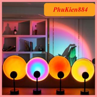 Đèn hoàng hôn có mika chuyển đổi 4 màu,đèn led trang trí chụp ảnh quay video livestream rất đẹp thumbnail