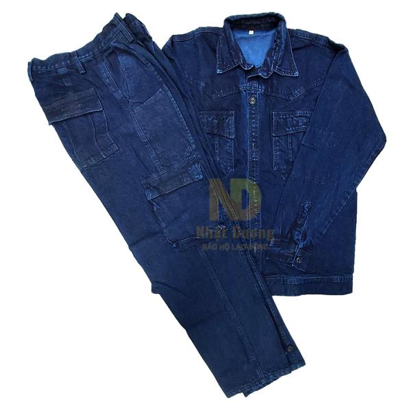Quần áo jean - quần bò - điện lực tiêu chuẩn, thợ hàn, thợ điện loại 1-dùng cho điện lực miền nam - hình thật - hàng sẵn