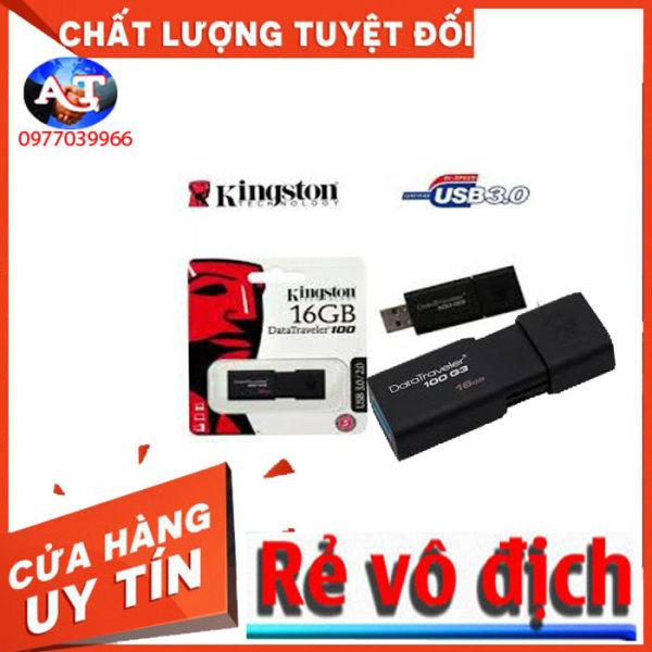 Bảng giá USB 3.0 32GB VÀ 16GB Kingston DataTraveler 100 G3 (Đen) Phong Vũ