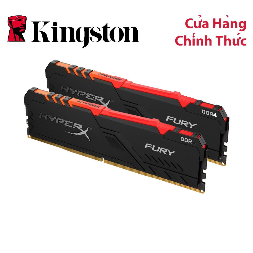 Giá Ram PC Kingston HyperX Fury RGB 16GB (Kit 2x8GB) Bus 3200 DDR4 CL16 DIMM XMP Non-ECC HX432C16FB3AK2/16
