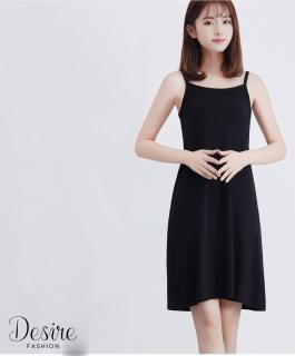 [Kèm video] Váy hai dây - Váy mặc lót thun cotton VNN-0044N ( Đen ) thumbnail