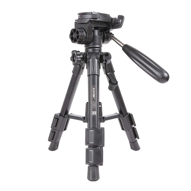 Mã Tiết Kiệm Để Mua Sắm ZOMEi Q100 Mini Travel Tabletop Tripod Tabletop Tripod With 3-Way Pan/Tilt Head 1/4 Inches Quick Release Plate And Bag For Dslr Camera Tripod Carrying Bag (Black)