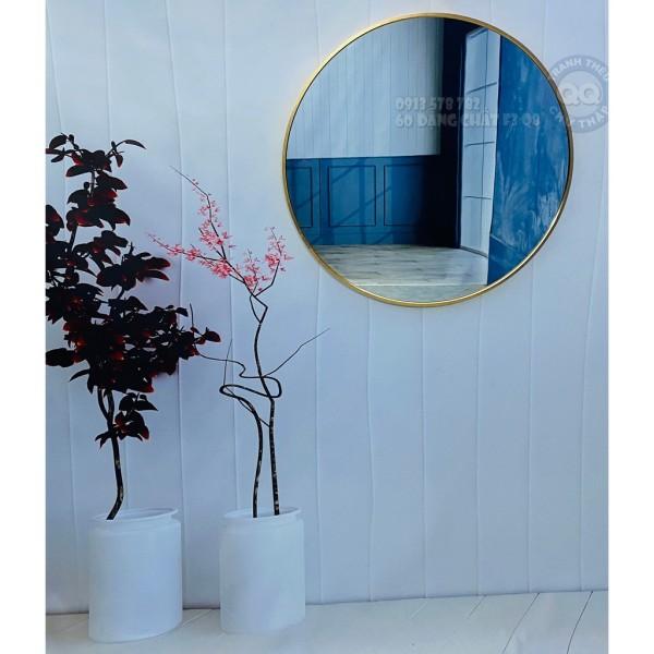 [HCM]Gương tròn treo tường viền nhôm D60 giá rẻ