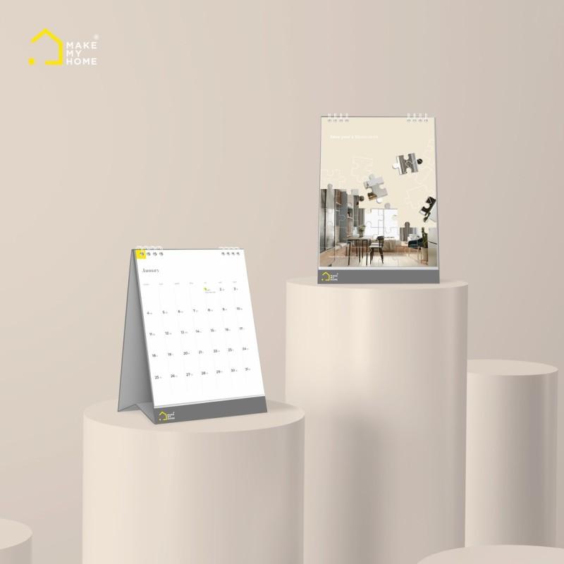 Lịch Để Bàn 2021 có Lịch âm Phong cách Tối giản