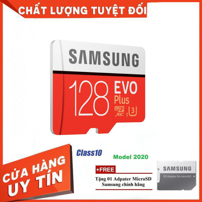 Thẻ nhớ MicroSD Samsung EVO Plus 4K 128GB 100MB/s 256GB Box Anh 2020 - Hàng Chính Hãng