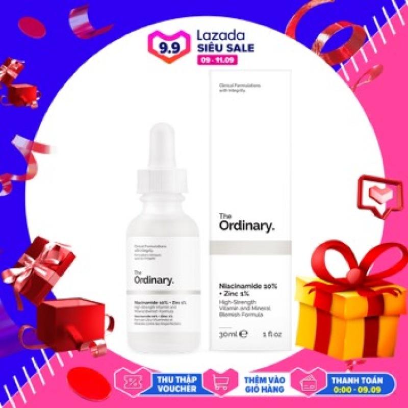 【Ready Stock】Tinh chất The Ordinary Niacinamide 10% + Zinc 1% serum sáng da nhanh, thu nhỏ lỗ chân lông.trị nám ,tàn nhang nhanh chóng