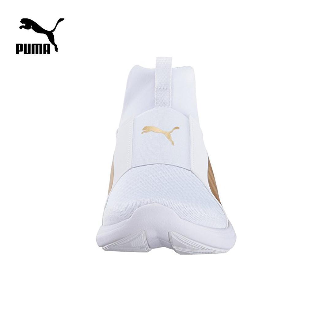 Giày Sneaker Nữ Puma Rebel Mid Wns (Trắng & Vàng) Duy Nhất Khuyến Mại Hôm Nay