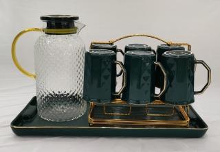 Bộ bình cốc pha trà cà phê bằng sứ và thủy tinh cao cấp thumbnail